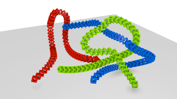 chain of cubes