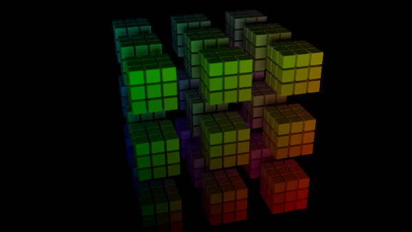 animated cube grid
