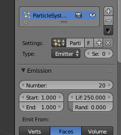 first particle system