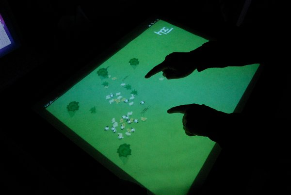 multitouch swarm simulation