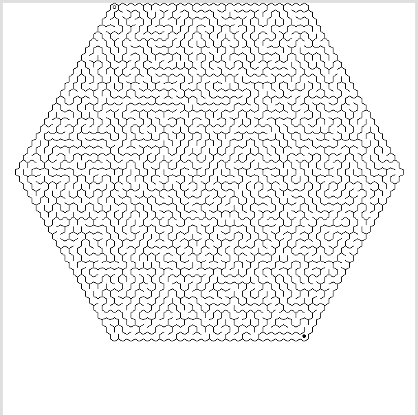 hexagonal labyrinth