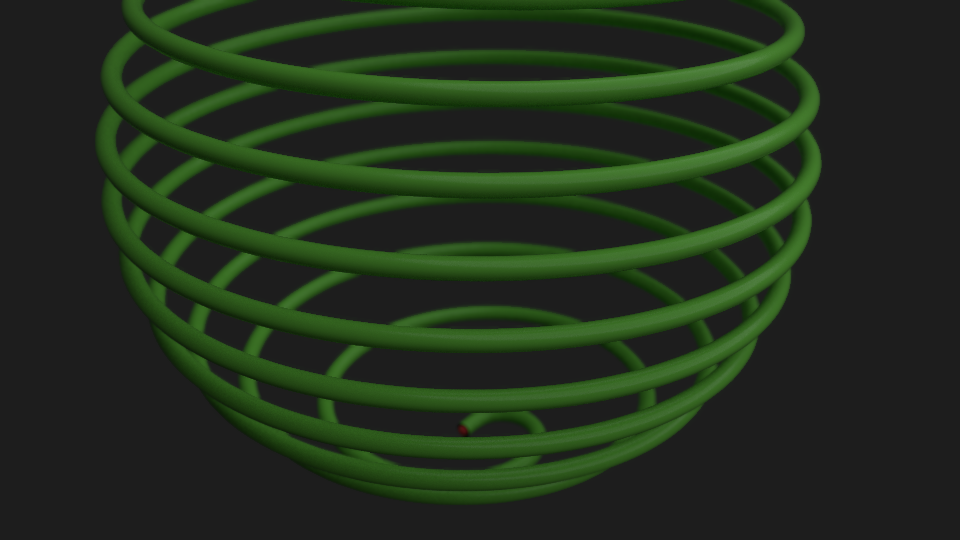 spherical spiral curve