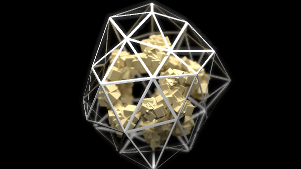 caged cube particles