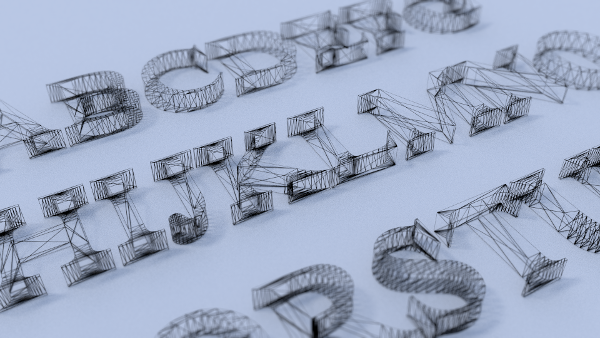 wireframe letters