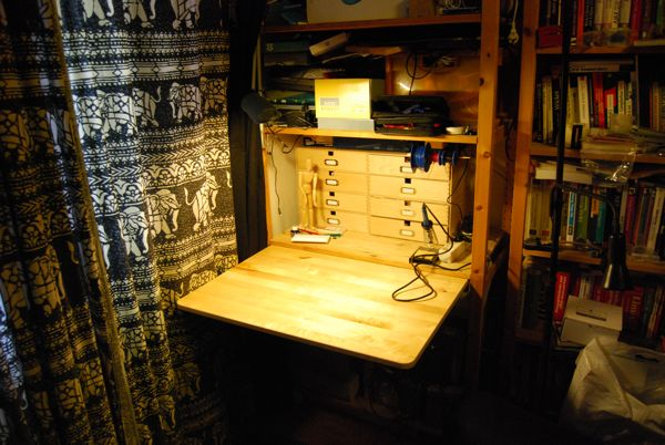 Gurublog Hidden Workbench In A Shelf