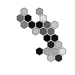 hexagonal abstract art generator