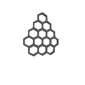 mesh from hexagonal prisms