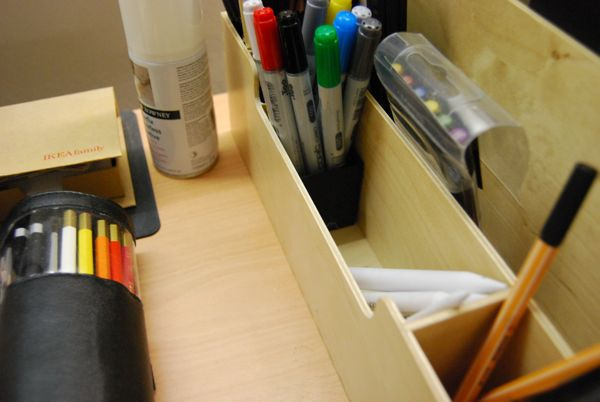Pen holder compartments